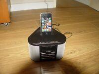 PURE Chronos iDock DAB/FM Clock Radio with iPod/iPhone4 Dock - Black
