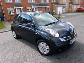 2009 nissan micra 1.5 dci vasia low miles full mot £30 a year tax