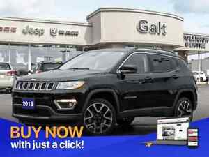 2018 Jeep Compass LIMITED 4X4 | NAV LEATHER SUNROOF