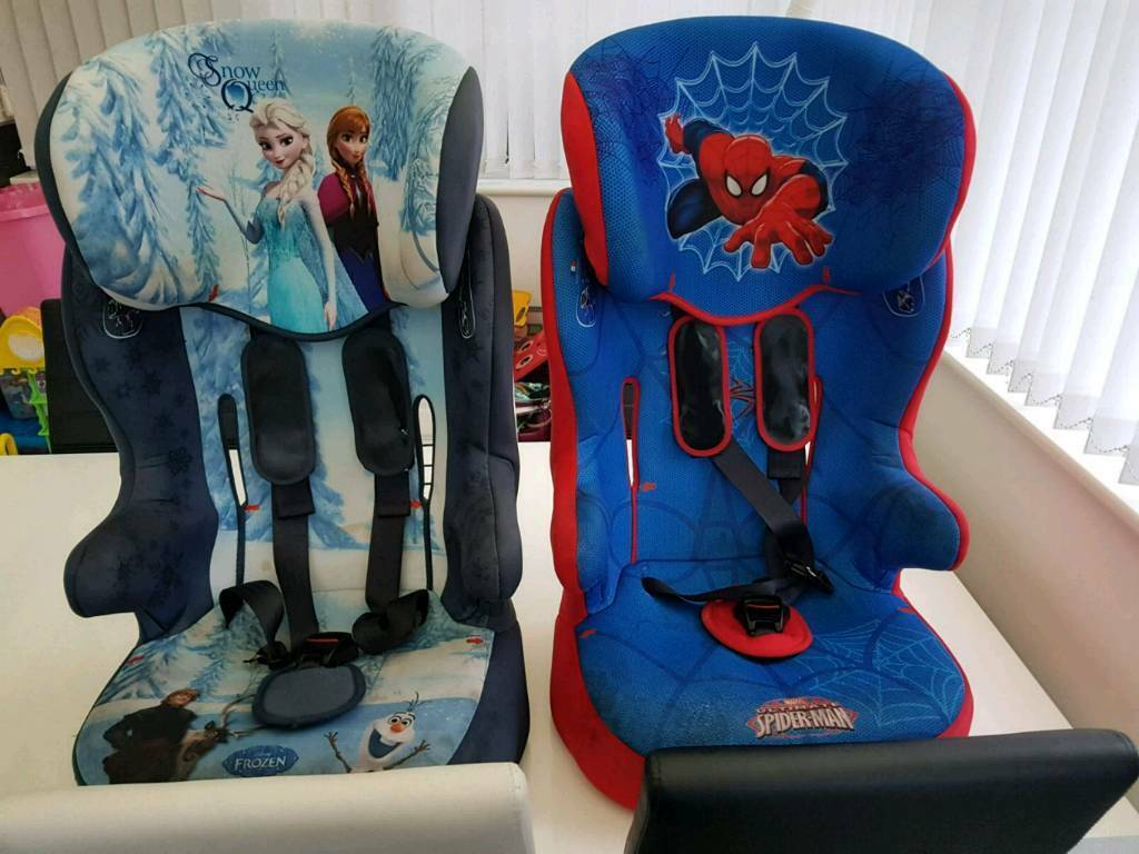 Spiderman And Frozen Car Seat