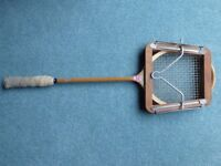 Vintage Gray's squash racket with a Dunlop head press