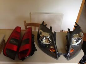 Front and Rear Headlights for Ford Fiesta (less than 1 year old)