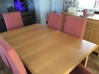 Marks & Spencer Lichfield range dining table and chairs
