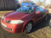 SALE! Bargain diesel Megane convertible, long MOT, be ready for the spring