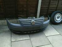 VW CADDY STANDARD FRONT BUMPER, TAKEN OFF 2009 CADDY GOOD CONDITION