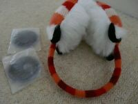 Cozy ears click and heat red fox knitted Ear Muffs