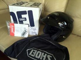 Shoei RJ Platinum-R : Black S : Open faced helmet - Excellent Condition - Boxed