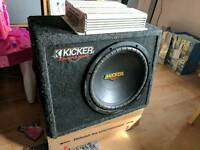 "Kicker 12"" sub & amp subwoofer amplifier"
