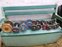 Used fixed weight dumbbells