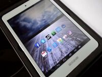 As new in box Gloss White GoClever Quantum Dual Core Dual Camera HDMI 8GB Android Tablet