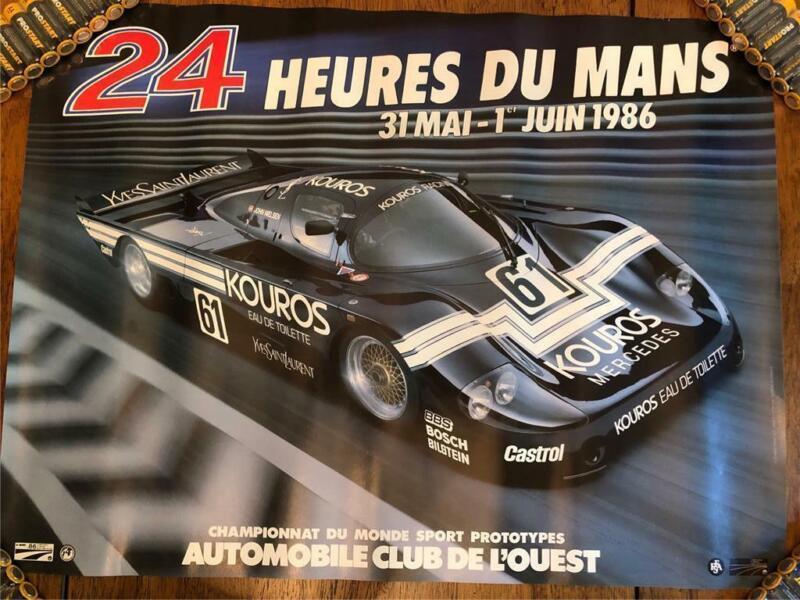 ORIGINAL 1986 LE MANS 24 HOURS HEURES DU MANS RACE POSTER RARE