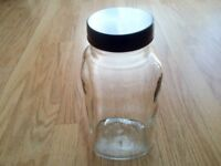 MADE IN ENGLAND VINTAGE AUTHENTIC LARGE GLASS SWEETSHOP JARS x 11