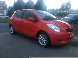 TOYOTA YARIS 1.3 SR vvti 5 DOOR PETROL, FSH NEW CLUTCH