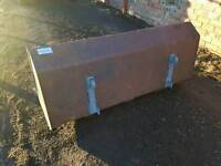 Slewtic tractor front loader bucket has euro 3 brackets fitted