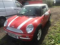 2001 Mini Cooper breaking parts only