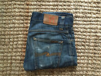 Nudie jeans – blue dry broken twill Slim Jim W29 L32