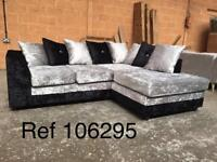 HIGH QUALITY Bella Right hand crushed velvet corner sofa