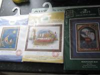 3 cross stitch kits oriental