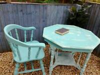 Table with captains chair