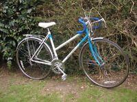 ladies vintage racing bike,raleigh esprit 20 in frame,10 speed,runs well