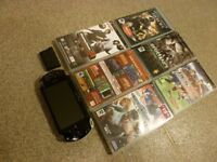 SONY PSP CONSOLE WITH GAMES.