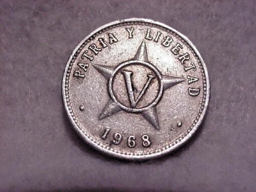 1968  REPUBLIC OF  CU6A 5 CENTAVOS