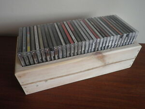 2 x Wooden CD Storage Boxes Made from Reclaimed Wood / Unpainted