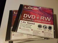 DVD+RW Rewritable blank DVD's. 4.7GB