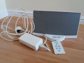 Bose white sounddock including iPod 4gb