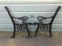 Cast iron bench sides