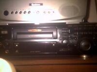 karoke machine .discs and monitor tv.
