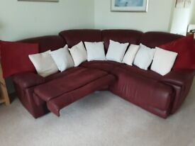 leather corner with 2 recliners