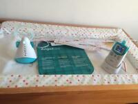 Angel care baby monitor , cordless , nightlight and shows temperature
