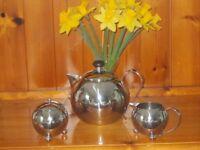 Vintage Stainless Steel Tea Set