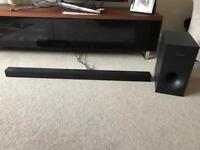 Samsung sound bar and speaker