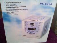 A nice radio clock cd player.