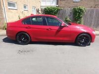 Current Shape BMW 320D Sport 184bhp £30 a year Tax - Rare Red with Black Leather