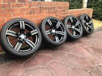"19"" BMW M5 Style Alloy wheels & Tyres E60 530d 520d M Sport VW T5 Vivaro"