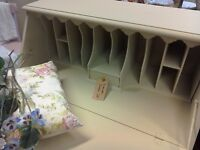 Lovely Painted Bureau with interesting cubby holes SOLD NOW
