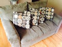 Couch + Love Seat - MICROSUEDE - Great condition