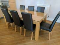 Next Oslo Dining Table With 8 Chairs