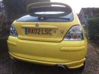 MG ZR 1.8 Yellow Car - Matching Leather Seats - FSH - Full MOT - Pre-purchase History AA Data Check