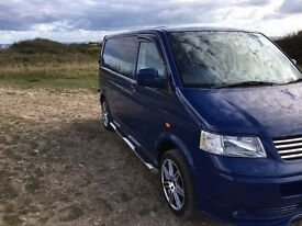 VW Transporter with full width Rock'N'Roller Bed