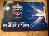 NFL tickets - Wembley 24th Sep 2017, two tickets, block 240, row 16, seats 6&7