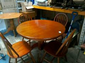 Round pedestal table with 4 chairs #33434 £50