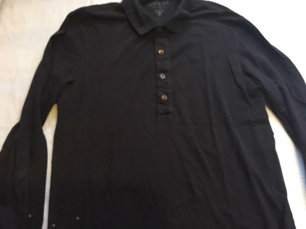 a4c19cdd025a Guess men's polo t -shirt black long sleeves size M used £3 cotton | in ...