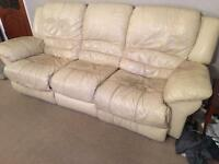 Three Piece Suite - Sofa and 2 Armchairs - Leather