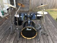 Pearl Forum Drum Kit + Cymbals - Good condition