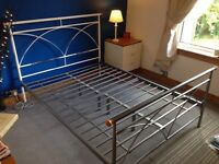 Sturdy Double steel bedframe+Free mattress