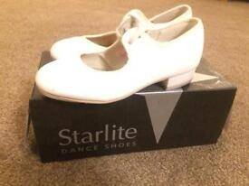 Size 10 girls white tap shoes